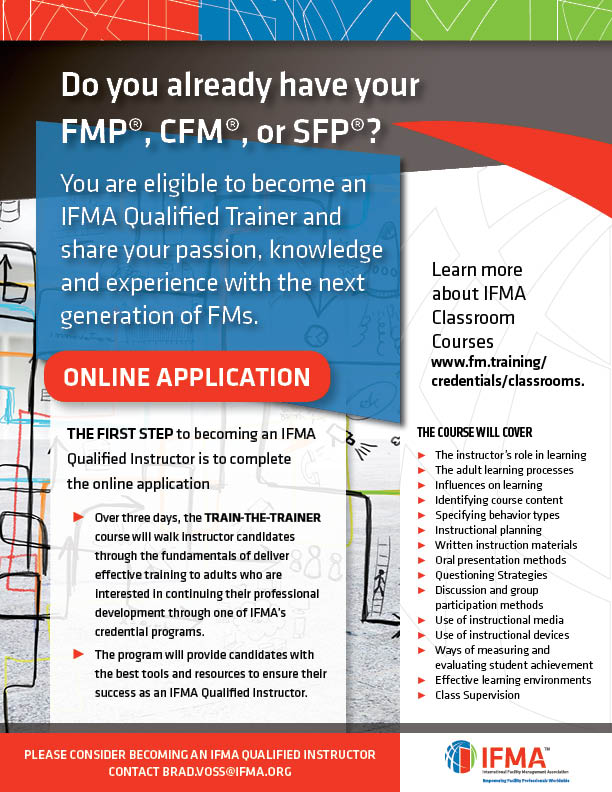 Shape The Future Of Fm Become An Ifma Instructor