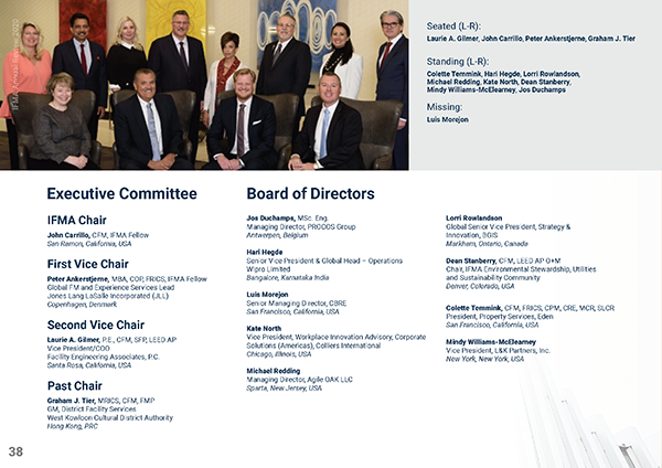 IFMA's 2019-2020 Executive Committee and Board of Directors
