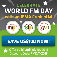 2016 World FM Day discount on IFMA credentials