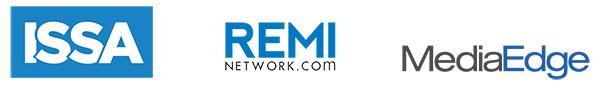 ISSA, REMI, MediaEdge Logos